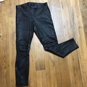 J. Crew Black Leather Pants